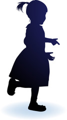 vector silhouette girl