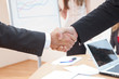 shake hands at office