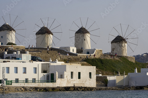 Famous Windmills of Mykonos, Greece