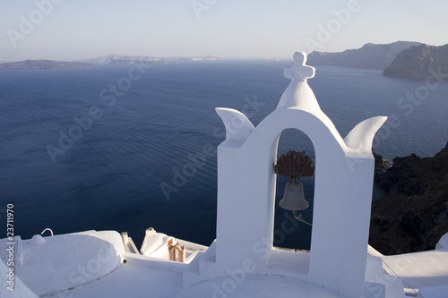 Stunning View of Santorini Island (Thira) in Greece
