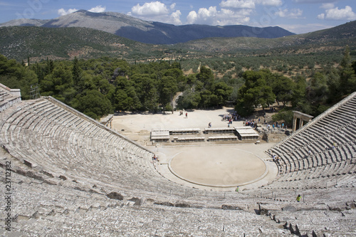 Beautifully Preserved Theater in Epidavros, Greece