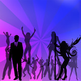 crowd on dance of people Vector illustration