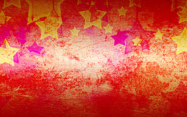abstract stars on the grunge