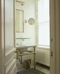 Open Door to Traditional Bathroom