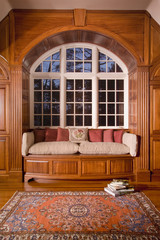Arched Window Above Window Seat