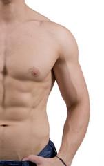 Uomo con muscoli definiti