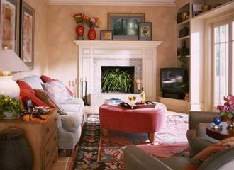 Sun Shining into Living Room