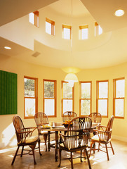 Traditional Furniture in Contemporary Dining Room