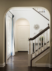 View Through Doorway to Staircase