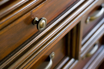 Knob and Handles on Chest of Drawers