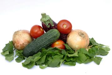 monton de verduras