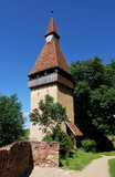 Biertan fortress tower in Transylvania, Romania poster