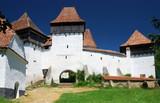 Viscri panorama, Transylvania, Romania poster