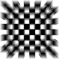 Vector image of black and white shifted tiles