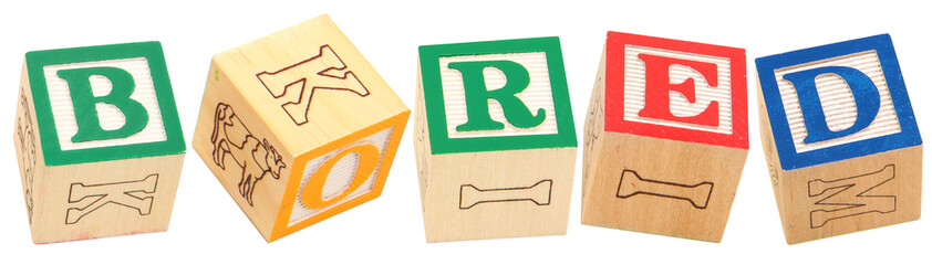 Alphabet Blocks BORED