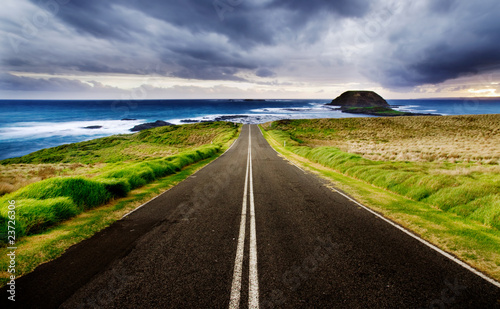Leinwanddruck Bild Coastal Highway