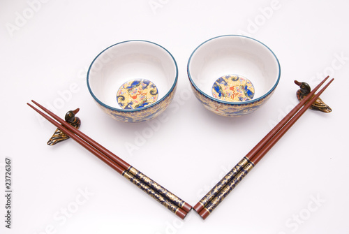 Smile chop sticks with bowl