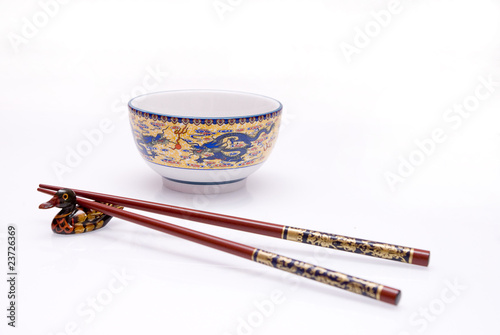 bowl with chop sticks