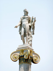 Apollo statue on a column capital at the national academy