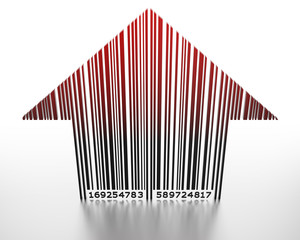 3D barcode arrow pointing up