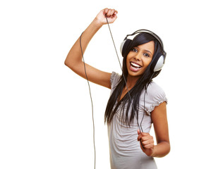 Tanzende Afrikanerin