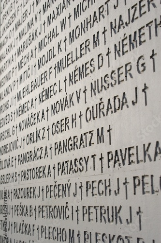 detail from memorial of offers of communism - Slovakia
