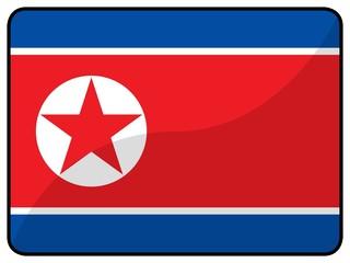 drapeau corée du nord north korea flag