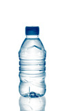 purified spring mineral water in the bottle with reflection poster
