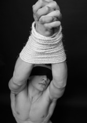 Model with ropes