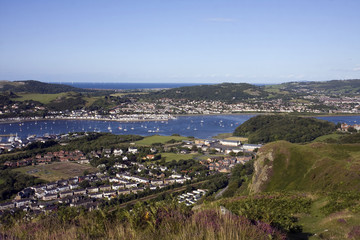 View from the top of Conwy mountain