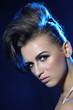 Fashion creative hairstyle and bright stylish make-up