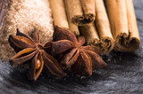 aromatic spices with brown sugar poster
