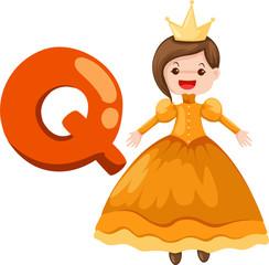 alphabet Q for queen