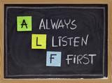 always listen first - ALF acronym poster
