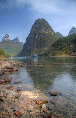 the li river at yangshuo