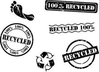 Recycle Rubber Stamps (Vector)