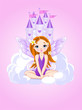 Little cute  fairy and a castle