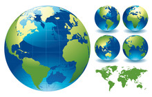 "Постер, картина, фотообои ""World Globe Maps"""