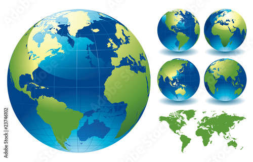 Fototapeta World Globe Maps