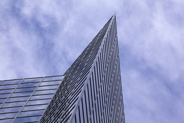 Modern Office Building With Cloud Reflection