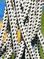 Seile vor farbigem Hintergrund - Rope & Colours