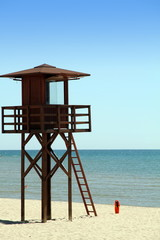 Watchtower Cullera beach Valencia province Spain