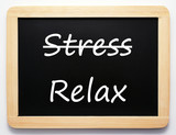 Fototapety Stress / Relax - Concept Sign