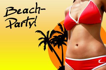 Plakat Strandparty