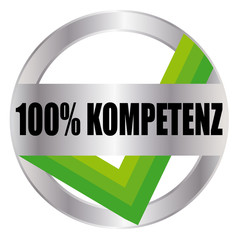 100% Kompetenz - Button