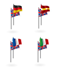translations from english as flag icons