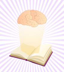 studying makes smart, brain over book