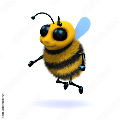 3d Bee Flying