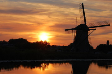 Typical dutch sunset