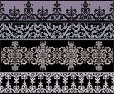 Traditional gothic ornament set